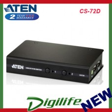 Aten 2-Port USB DVI KVM Switch - Cables Included CS-72D
