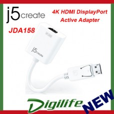j5create JDA158 4K HDMI DisplayPort Active Adapter