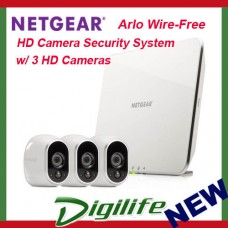 Netgear Arlo Wire-Free HD Camera Security System with 3 HD Cameras