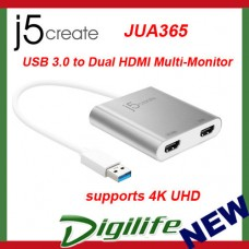 j5create USB 3.0 to Dual HDMI Multi-Monitor Adapter JUA365