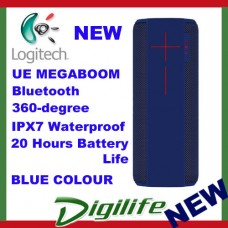 LOGITECH Ultimate Ears UE MEGABOOM Bluetooth Wireless Speaker Waterproof BLUE