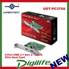 Vantec UGT-PC370A 2-Port USB 3.1 Gen II Type-A PCIe Host Card