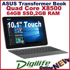 "ASUS T100HA Transformer Book 10.1"" Touch Qaud Core Z8500 2GB 64GB WIFI Win10"