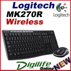 Logitech MK270R Wireless Combo Desktop Keyboard & Mouse 2.4Ghz MK270