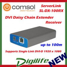 ServerLink DVI Daisy Chain Extender over Cat 5 up to 100m Receiver 1080p