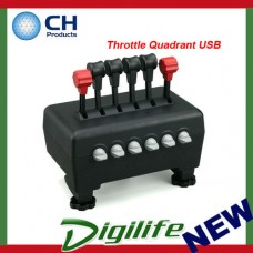 CH Products Throttle Quadrant USB For PC & Mac CH-300-133