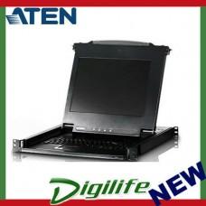 "Aten 17"" LCD KVM Slide Console RackMountable Keyboard  CL-1000MA"