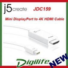 j5create Mini DisplayPort to 4K HDMI Cable JDC159