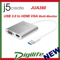 j5create USB 3.0 to HDMI VGA Multi-Monitor Adapter JUA360