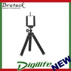 Brateck Universal Flexible Mini Tripod Stand Mount Holder For GoPro Hero Camera