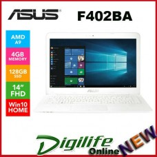 "Asus F402BA 14"" Full HD AMD A9-9400 4GB RAM 128GB SSD USB-C Webcam BT Win10"