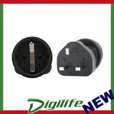 InLine Schuko to UK 3 Pin Plug Adapter PA-6023