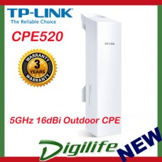 TP-Link CPE520 5GHz 300Mbps Outdoor Wireless Access Point 16dBi Antenna POE
