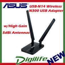 ASUS USB-N14 Wireless-N300 USB Adapter With High Gain 5dBi Antennas