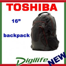 "Toshiba 16 inch Backpack FITS UP TO 16"" NOTEBOOKS Laptop Carry Case Bag"