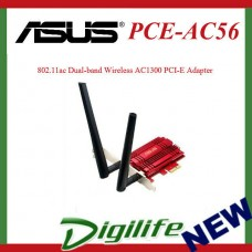 ASUS PCE-AC56 802.11ac Dual-band Wireless AC1300 PCI-E Adapter Low Profile Brack