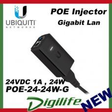 Ubiquiti Networks 24VDC 1A 24W PoE Injector POE-24-24W-G Gigabit