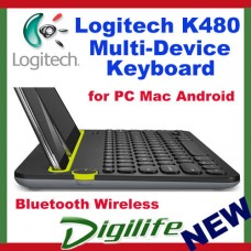 Logitech K480 Bluetooth Multi-Device Keyboard Black for smartphone tablet iPad