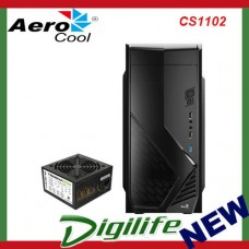 AEROCOOL CS-1102 Mid Tower Case, 1xUSB 3.0, 2xUSB2.0, HD Audio, Rear 80mm Fan W