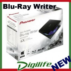 Pioneer BDR-XD05TB Slim External Portable USB 3.0 Blu-Ray DVD CD Writer Burner