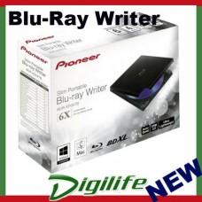 Pioneer BDR-XD05TB Slim External Portable USB 3.0 Blu-Ray DVD CD Writer Burner