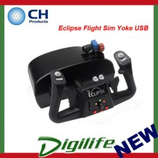CH Products Eclipse Flight Sim Yoke USB For PC & Mac CH-200-616