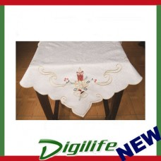 Vintage Luxury Hand Embroidery and Cutwork Table Cloth Christmas XLY-1110 36*36""