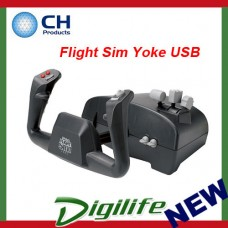 CH Products Flight Sim Yoke USB For PC & Mac 200-615