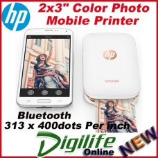 HP Sprocket Photo Printer for Mobile Smartphone Recharge Battery Z3Z91A White