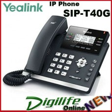 "Yealink SIP-T40G 3 Line IP phone, 2.3"" 132x64 pixel graphical LCD with backlight"