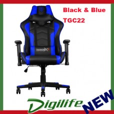 AEROCOOL ThunderX3 TGC22 Ergonomic Motorsports Inspired Gaming Chair Black/Blue