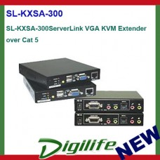 ServerLink VGA KVM Extender over Cat 5 UTP RJ45-VGA, USB, PS/2, Audio & Serial