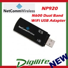 Netcomm NP920 N600 Dual Band WiFi USB Adapter Dongle