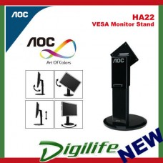 AOC HA22 VESA Monitor Stand Height Adjust Pivot Swivel