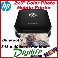 "HP Sprocket Photo 2x3"" Mobile Printer for Smartphone Rechargeable Battery Z3Z92A"