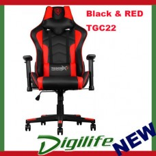 AEROCOOL ThunderX3 TGC22 Ergonomic Motorsports Inspired Gaming Chair Black/Red