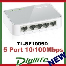 TP-Link TL-SF1005D 5 Port Mini Desktop Switch Hub 10/100M RJ45 ports