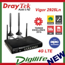 Draytek Vigor 2925Ln 4G LTE 802.11n Multi-WAN Broadband Firewall Router 50x VPN