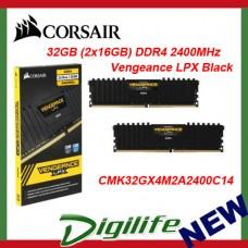 Corsair Vengeance LPX 32GB (2x 16GB) DDR4 2400MHz Memory Black C14