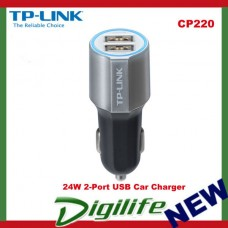 TP-Link CP220 24W 2-Port USB Car Charger Universal Compatibility Auto Detect