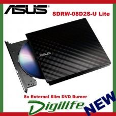ASUS SDRW-08D2S-U Lite 8x External Slim DVD RW Burner drive