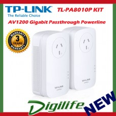 TP-Link TL-PA8010P Kit AV1200 Gigabit Passthrough Powerline KIT range extender