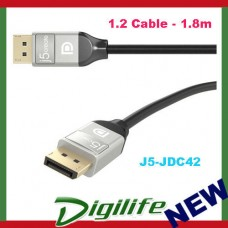 j5create 4K DisplayPort 1.2 Cable - 1.8m