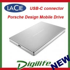 "LaCie 1TB Porsche Design 2.5"" USB Type-C Mobile Hard Drive Silver USB-C"