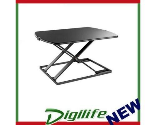 Brateck Ultra-Slim Sit-Stand Desk Converter (Lockable Gas Spring Mechanism) Work