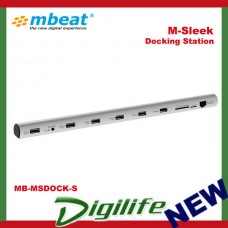 mbeat M-Sleek Docking Station For Notebook & Macbook in Silver Aluminium Housing