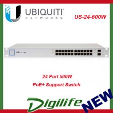 Ubiquiti UniFi Switch 24-port 500W Managed PoE+ Gigabit Switch US-24-500W