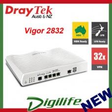 Draytek Vigor 2832 Multi Wan ADSL2 Modem Router w/ 3G/4G USB VPN DV2832