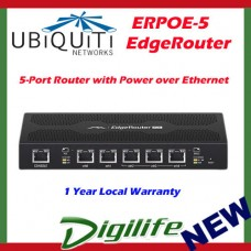 Ubiquiti EdgeRouter POE 5-Port Router Power over Ethernet Gigabit Switch ERPoe-5