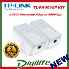 TP-Link TL-PA4010PKIT AV500 Passthrough Powerline Adapter Starter Kit